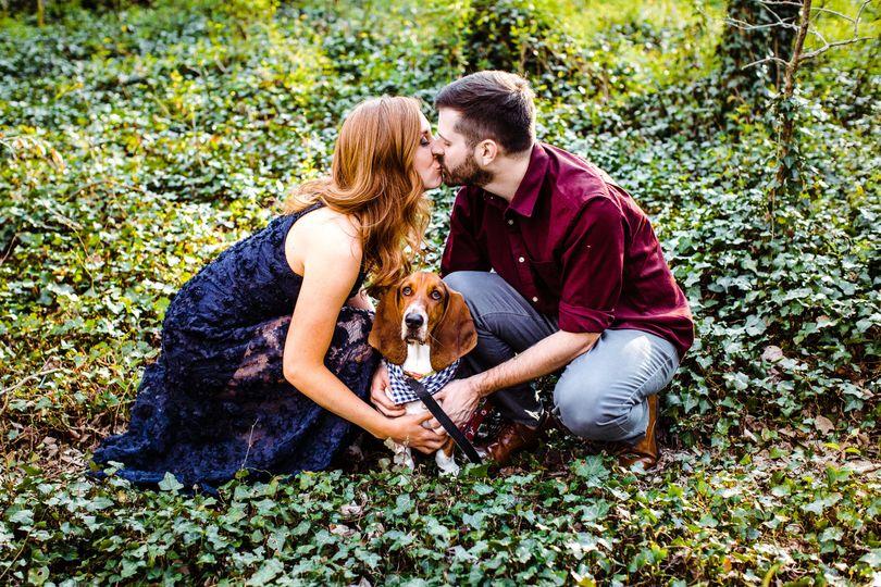 Basset hound engagement sesh