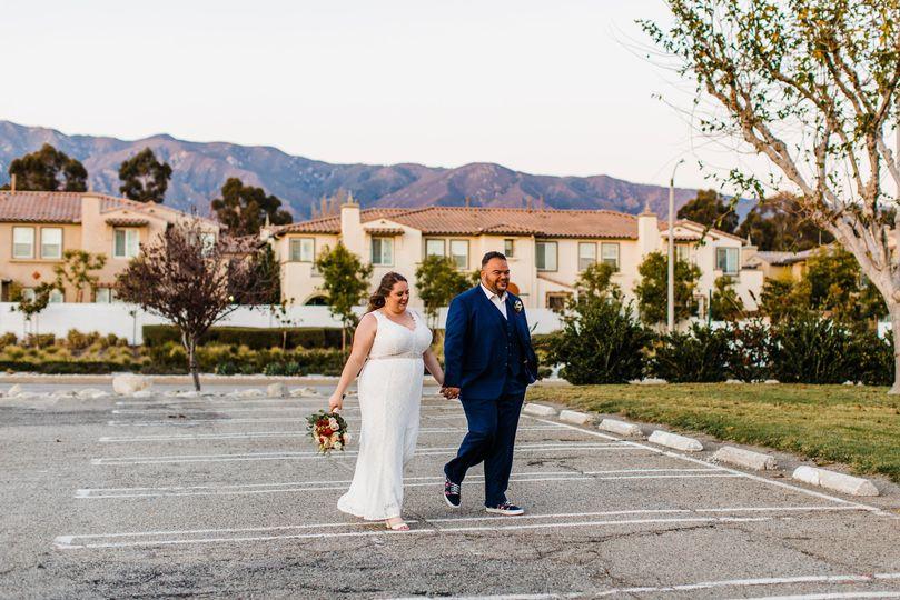 California intimate wedding day