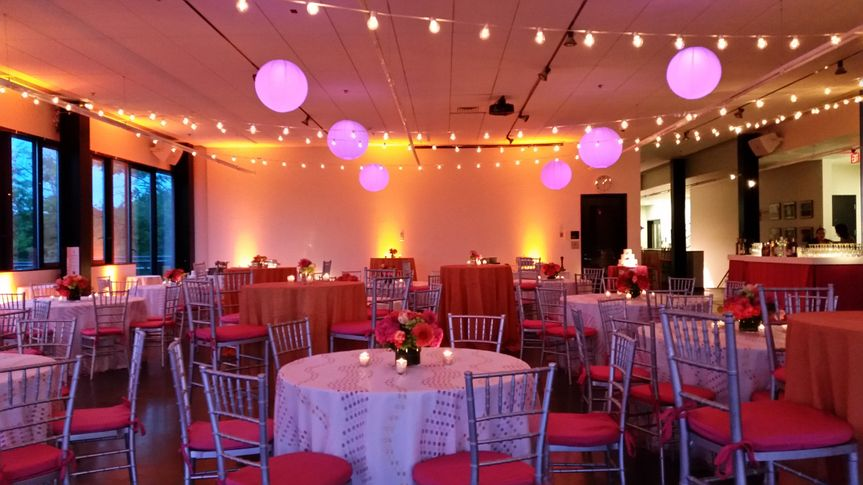 Reception space all dressed up