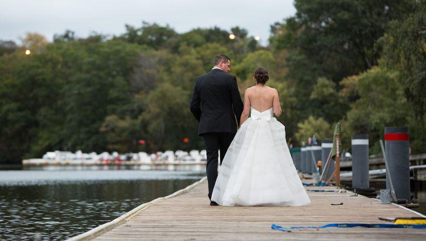 Bride + Groom on Dock