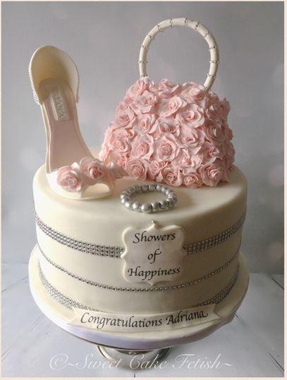 high heel bridal shower cake