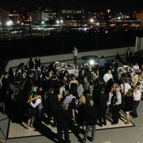Rooftop wedding at Cityview Racquet Club with Expressway Music Owner/DJ Dave Swirsky. EVERYONE was...