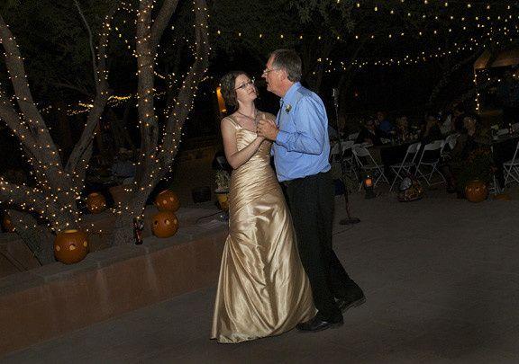 Father/Daughter dance under the stars.  It was unforgettable.  Beautiful backyard weddomg!  Justin...
