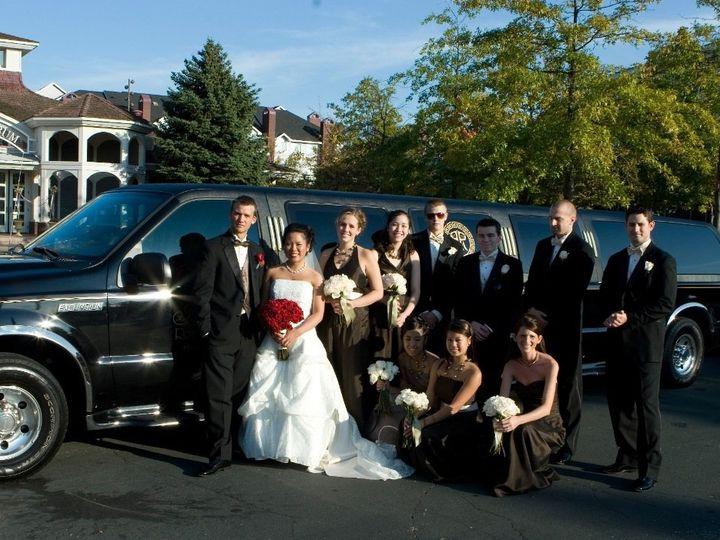 Tmx 1363016143675 BlackExcursionSUVwithWeddingParty Minneapolis, MN wedding transportation