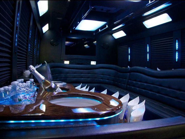 Tmx 1495231646123 20 Passenger Limo Coach Interior Minneapolis, MN wedding transportation