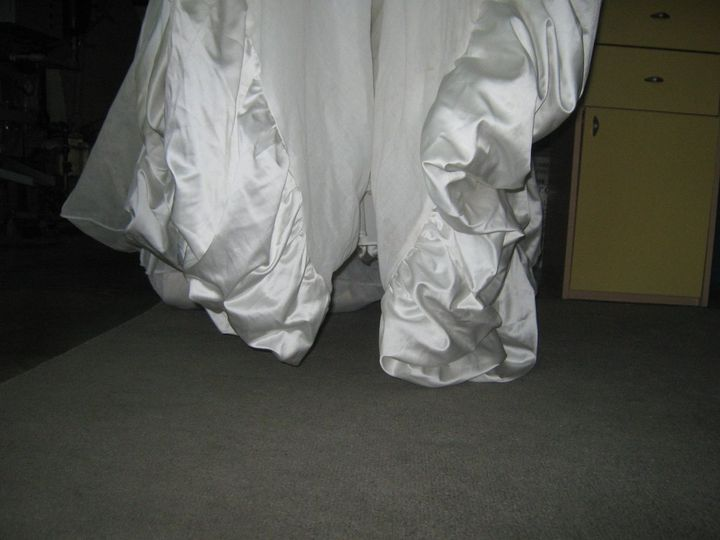 The same gown before leaving specialty after it´s cleaning process.