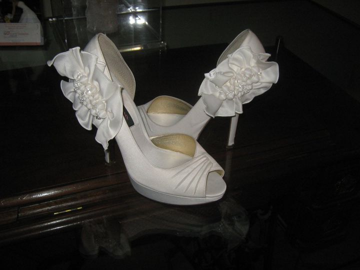 Wedding shoes renewed in specialty cleaners