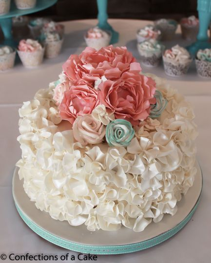 Chocolate ruffles with chocolate peonies