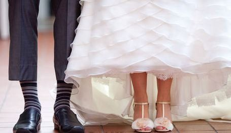 Groom and bridal shoes