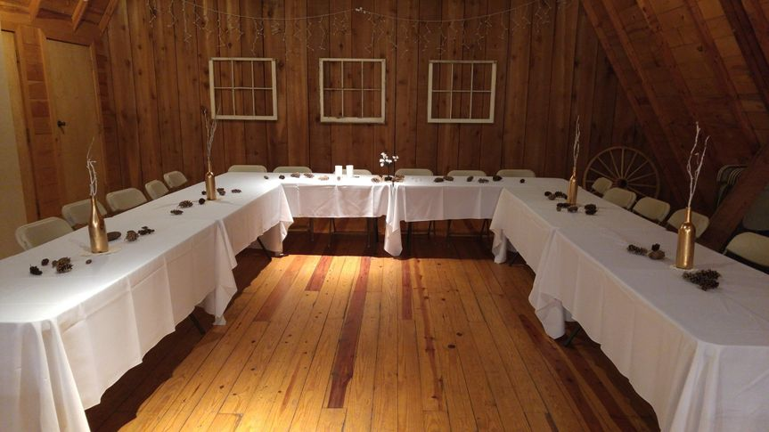 The loft can be the perfect place for your head table.