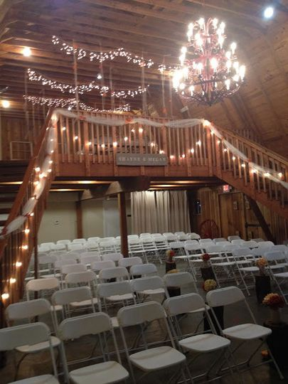 The barn is large enough to easily accommodate a ceremony, and can be quickly broken down to turn...