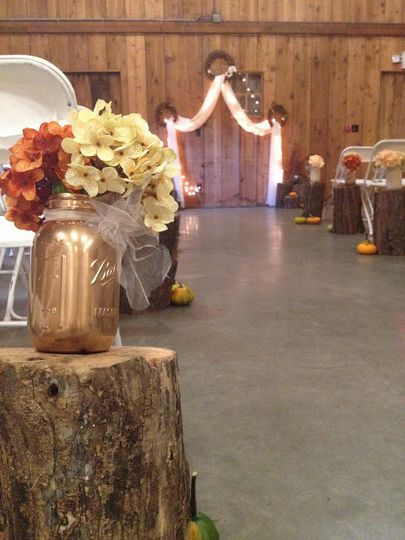 While many brides choose to have an outdoor ceremony, an indoor ceremony can be just as beautiful...