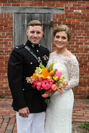 The Majors grounds provide you with a beautiful rustic backdrop for your wedding photos.