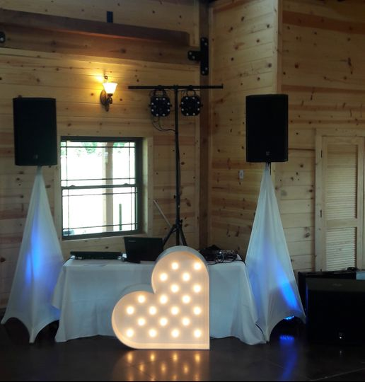 Our set-up at Rolling Meadows Ranch