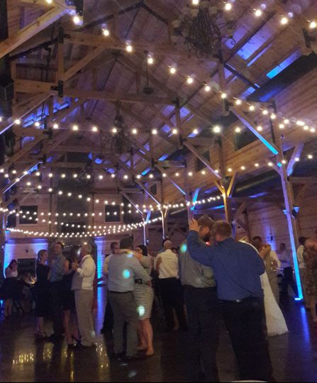Up-lights and partying at Rolling Meadows Ranch
