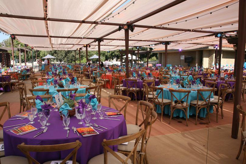 Colorful venue