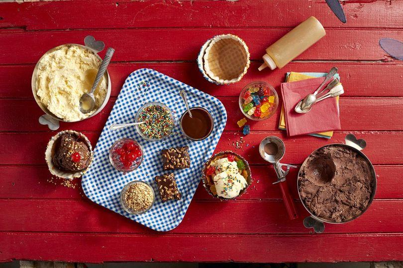 Build-Your-Own Ice Cream Sundae Station