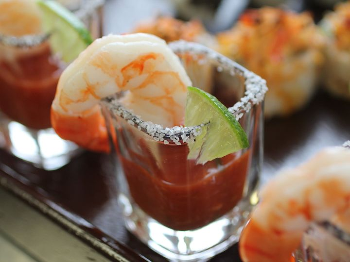 Tmx 1439579093346 Jumbo Shrimp Cocktail Served In A Shot Glass Dippe Morton Grove wedding catering