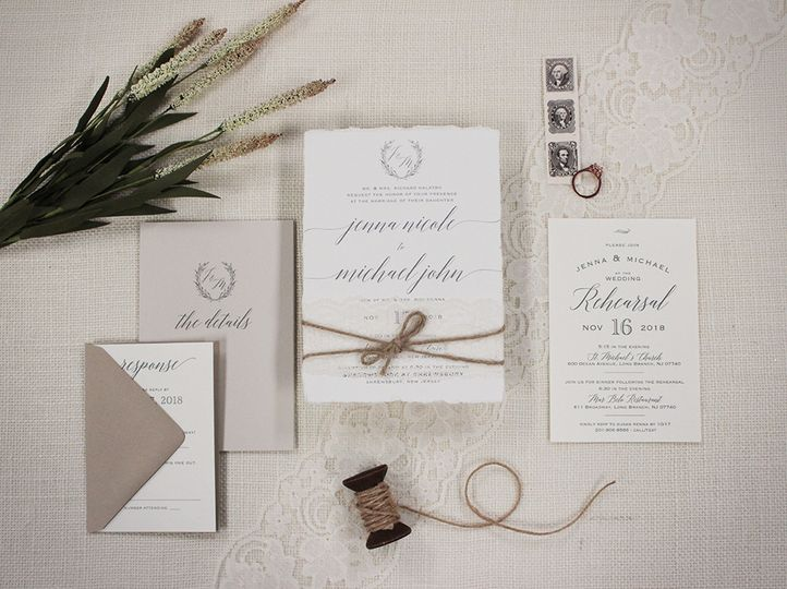 Deckled edge invitations