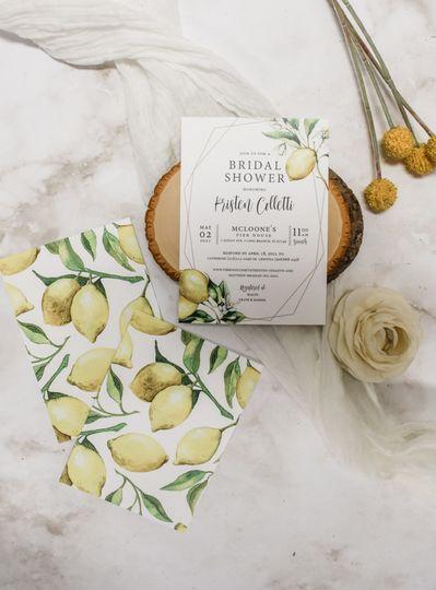 Citrus bridal shower