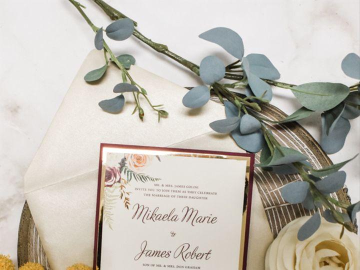 Tmx Burgundy Gold Foil Nj Wedding Invitation 51 560428 162051205085974 Farmingdale, New Jersey wedding invitation