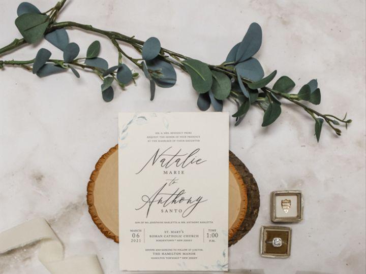 Tmx Champagne And Greenery Nj Wedding Invitation 51 560428 162051204951485 Farmingdale, New Jersey wedding invitation