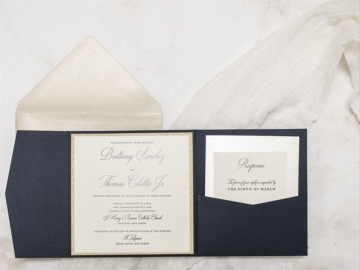 Tmx Elegant Navy And Gold Nj Wedding Invitations 51 560428 162051204613901 Farmingdale, New Jersey wedding invitation