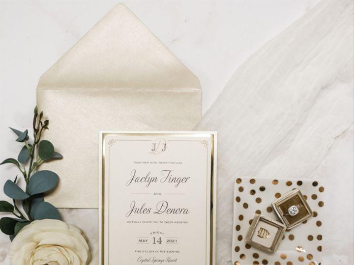 Tmx Gold Foil Nj Wedding Invitation 51 560428 162051204747468 Farmingdale, New Jersey wedding invitation
