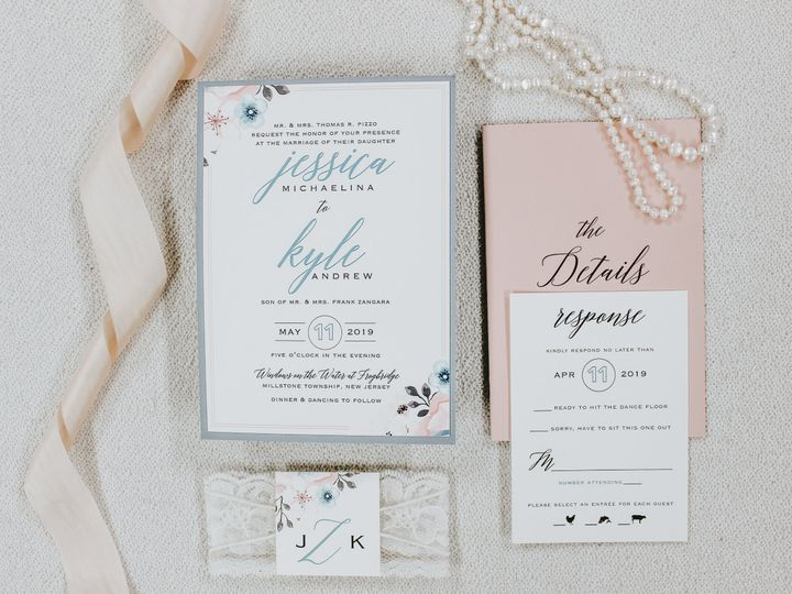 Tmx Jessica Pizzo 51 560428 Farmingdale, New Jersey wedding invitation