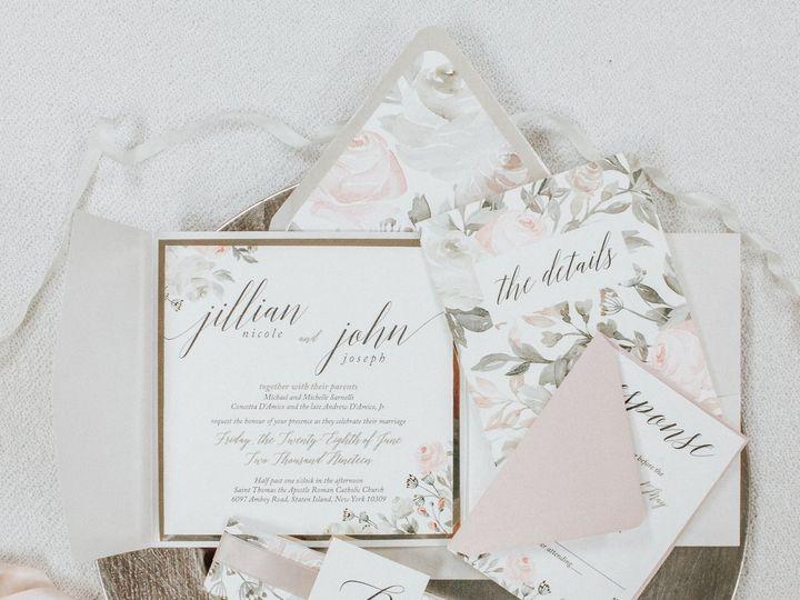 Tmx Jillian Sarnelli 51 560428 Farmingdale, New Jersey wedding invitation