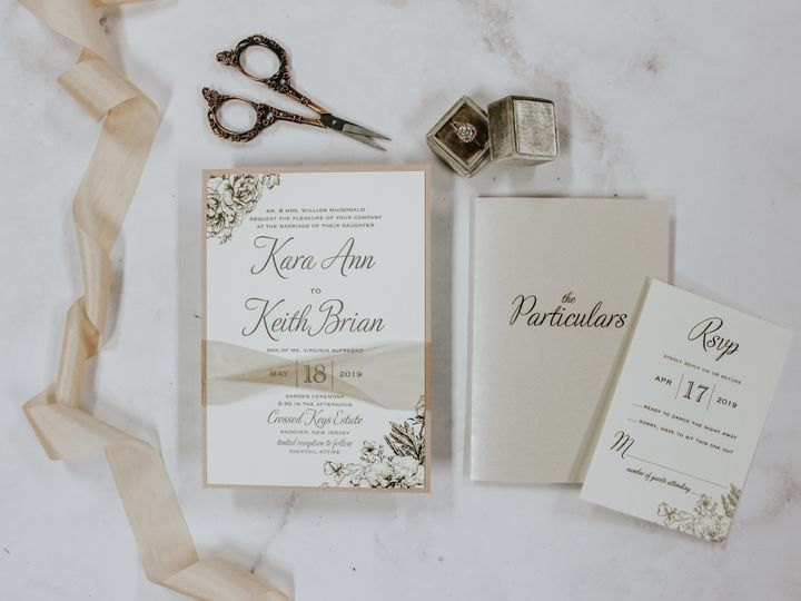 Tmx Kara Mcdonald 51 560428 Farmingdale, New Jersey wedding invitation