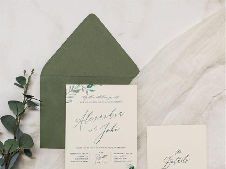 Tmx Minimalist Greenery Nj Wedding Invitations 51 560428 162051204578139 Farmingdale, New Jersey wedding invitation