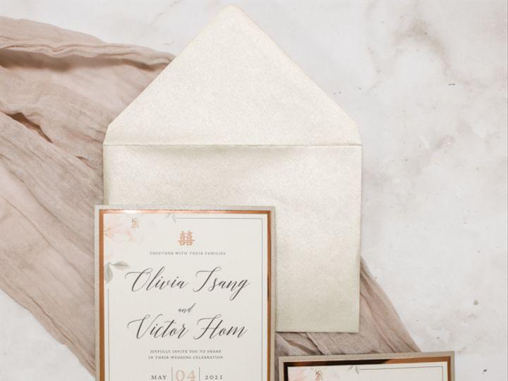 Tmx Rose Gold Foil Floral Nj Wedding Invitation 51 560428 162051205010083 Farmingdale, New Jersey wedding invitation