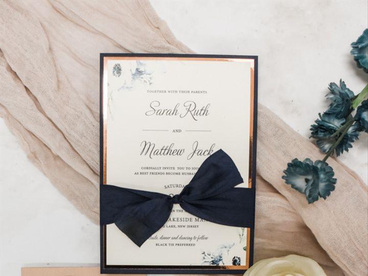 Tmx Rose Gold Foil Nd Navy Bow Nj Wedding Invitation 51 560428 162051205089036 Farmingdale, New Jersey wedding invitation