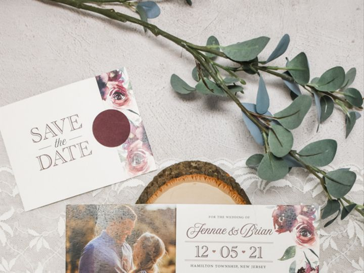 Tmx Rustic Burgundy Floral Nj Wedding Save The Date 51 560428 162051204815124 Farmingdale, New Jersey wedding invitation