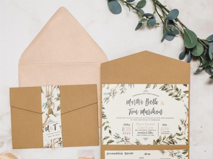 Tmx Rustic Floral Greenery Nj Wedding Invitation 51 560428 162051204926110 Farmingdale, New Jersey wedding invitation