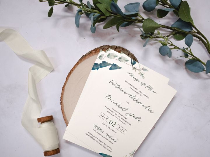 Tmx Victoria Ernst Change The Date 2 51 560428 159699534797355 Farmingdale, New Jersey wedding invitation