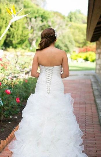 Mermaid tail dress with frills