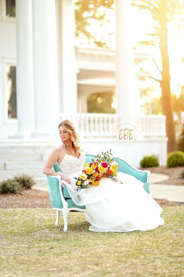 Bride in lovely white