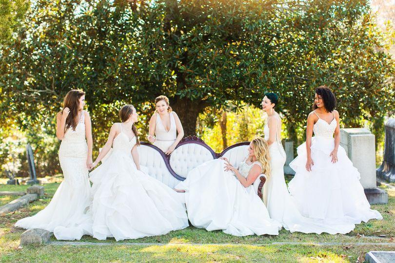 Beautiful women in white
