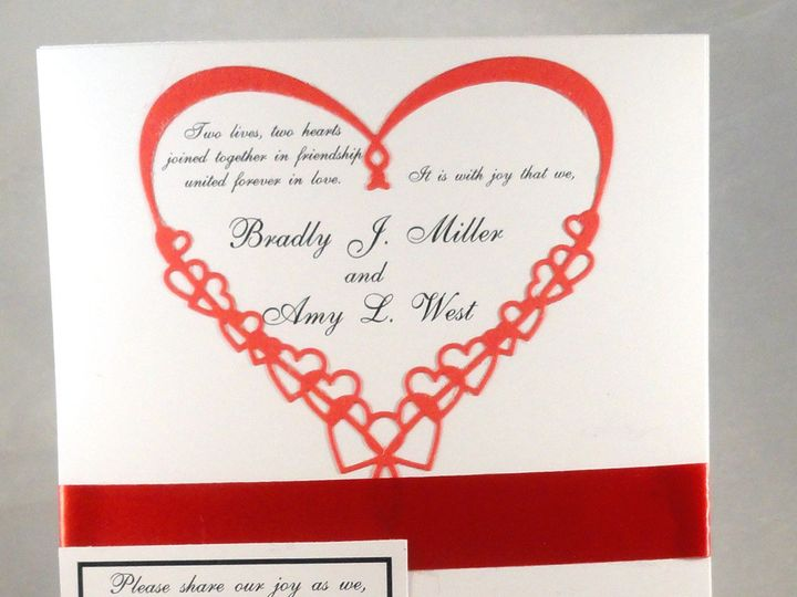 Tmx 1393948434752 Red Heart Black Rsvp Card Close South Berwick wedding invitation