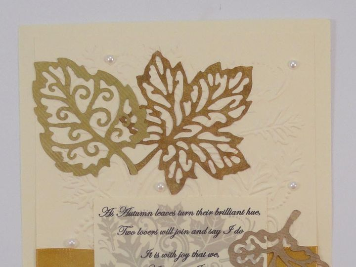 Tmx 1393948948659 Fall Leave Metallic On Ivor South Berwick wedding invitation