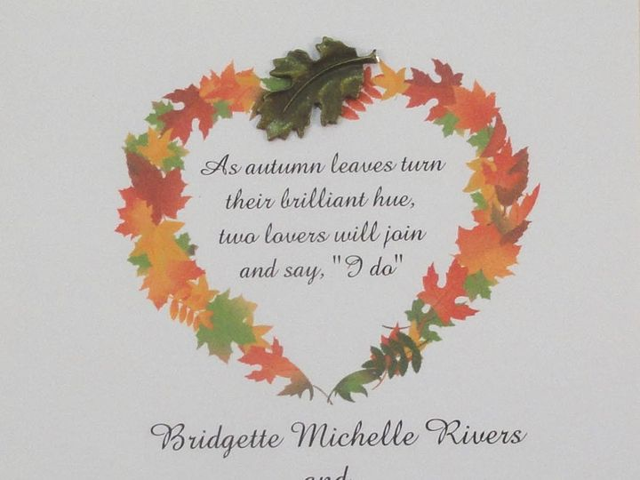 Tmx 1393948970868 Fall Wreath Metal Lea South Berwick wedding invitation