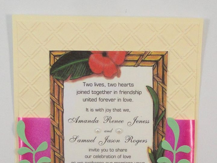 Tmx 1393949004788 Hawaiian Bamboo Fram South Berwick wedding invitation