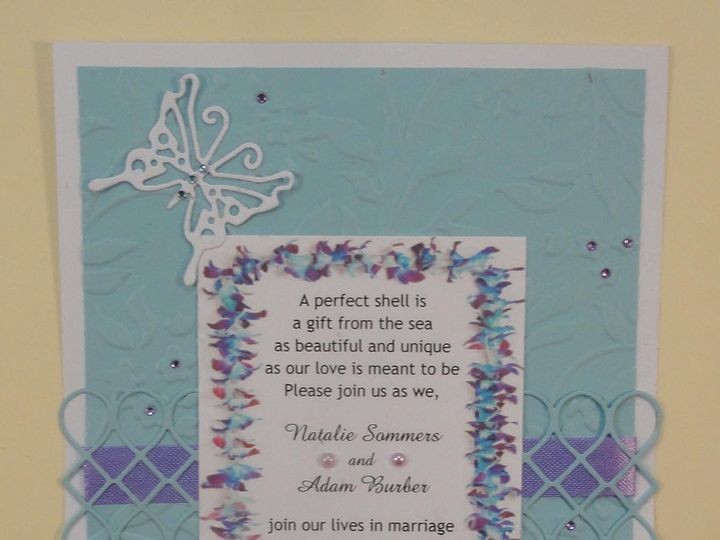 Tmx 1393949010668 Hawaiian Blue Lei On Blu South Berwick wedding invitation