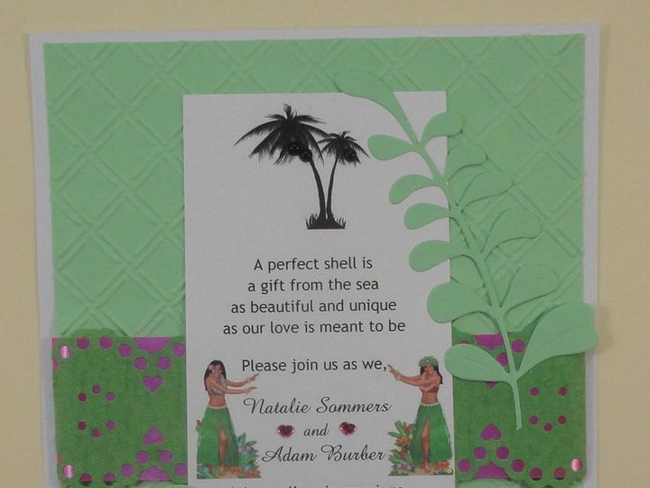 Tmx 1393949015098 Hawaiian Green Hula Girls Pal South Berwick wedding invitation