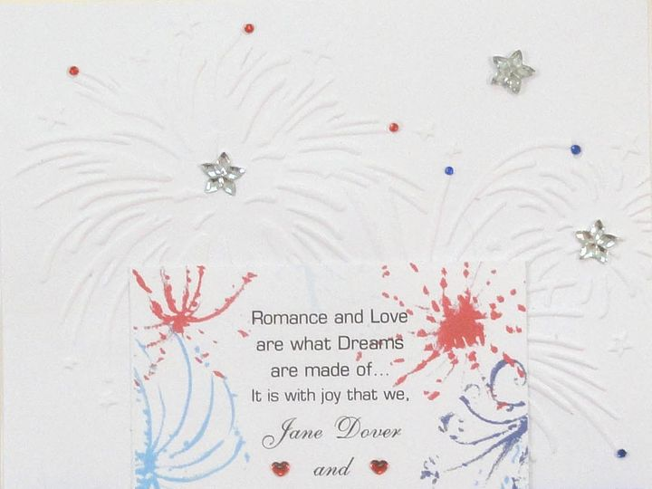 Tmx 1393949048291 Patriotic Fire Works Stars Blue Ribbo South Berwick wedding invitation