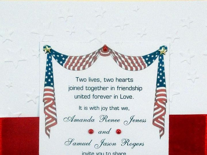 Tmx 1393949061412 Patriotic Stars Swag Red Ribbo South Berwick wedding invitation