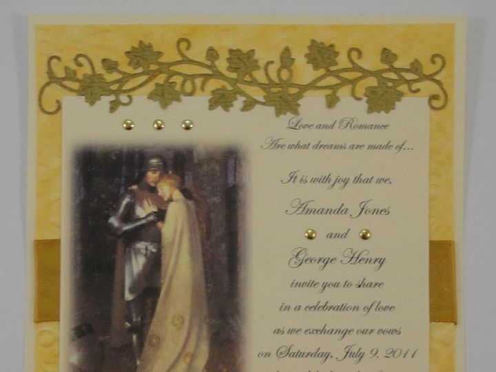 Tmx 1393949066357 Renaissance Knight Maiden Standin South Berwick wedding invitation
