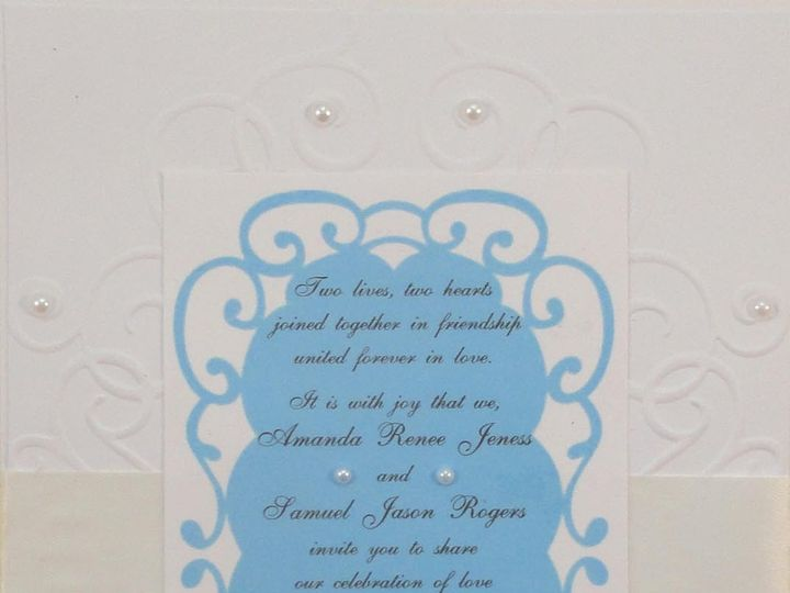 Tmx 1393949080547 Wedding Blue On Embosse South Berwick wedding invitation